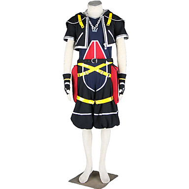 Innoittamana Kingdom Hearts Cosplay Anime Cosplay-asut Cosplay Puvut YhtenäinenTakki Housut Käsineet Vyö Kaulanauha Lisää tarvikkeita