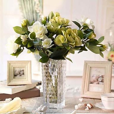 1 Tak Zijde Gardenia Bloemen voor op tafel Kunstbloemen