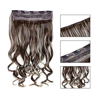 5 Clips Wavy 12/613 Synthetic Hair Clip In Hair Extensions For Ladies more colors available