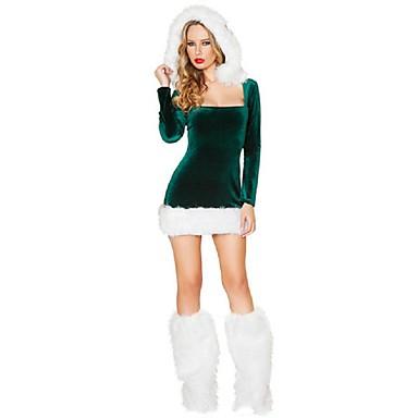 Cosplay Kostýmy Vánoční santa obleky Festival/Svátek Halloweenské kostýmy Šaty Pásek Vánoce Dámské Samet
