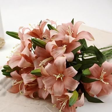 Branch Silk Lilies Tabletop Flower Artificial Flowers