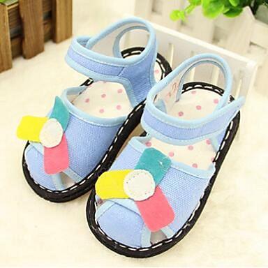女の子 赤ちゃん 靴 キャンバス コットン コンフォートシューズ サンダル 用途 カジュアル ブルー ピンク
