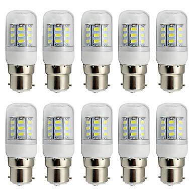 80 lm B22 LED-maissilamput T 27 ledit SMD 5730 Koristeltu Lämmin valkoinen Kylmä valkoinen AC 85-265V