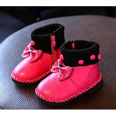 キッズ 女の子 赤ちゃん 靴 レザーレット コンフォートシューズ ブーツ 用途 カジュアル ピーチ レッド ピンク