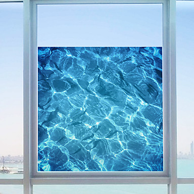 Art Deco Moderne Fenster-Aufkleber, PVC/Vinyl Stoff Fensterdekoration