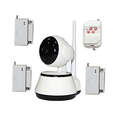 와이파이 비디오 아기는 무선 문 창 열기 도난 경보 센서 오래된 아이 안전을위한 보안 IP 카메라 HD 모니터
