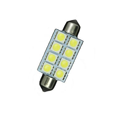 10 x 41 mm, fehér 5050 8smd girland kupola térképen belső LED-izzók de3423 6418
