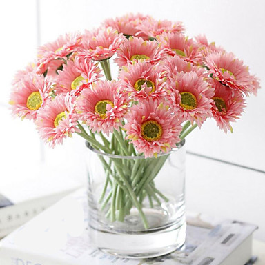Ág Poliészter Százszorszépek Asztali virág Művirágok