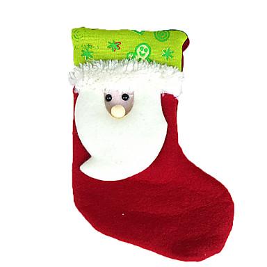 ホリデー・デコレーション クリスマスデコレーション クリスマスパーティー用品 ギフトバッグ おもちゃ ソックス サンタスーツ 雪だるま 繊維 2 小品