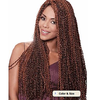 curly punokset Deep Twist Kanekalon Musta Ash Brown Medium Golden Brown Mansikkablondi Bleach Blonde Hiuspidennykset 24