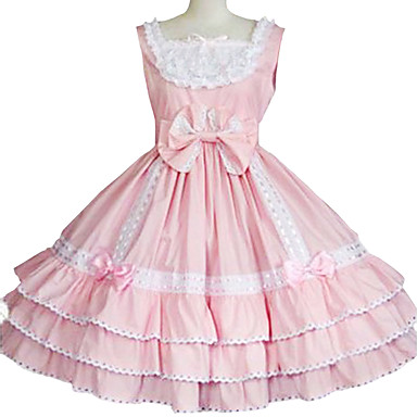 Söpö Lolita Prinsessa Pitsi Naisten jsk / Jumper Skirt Cosplay Hihaton