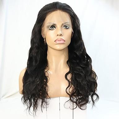 Remy-hår Blonde Forside Parykk Bølget / 360 Frontal 180% tetthet Naturlig hårlinje / Afroamerikansk parykk / 100 % håndknyttet Kort / Medium / Lang Dame Blondeparykker med menneskehår