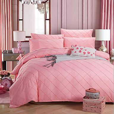Bettbezug-Sets Solide 1 Stück Polyester / Baumwolle Baumwolle Reaktivdruck Polyester / Baumwolle Baumwolle 4-teilig (1 Bettbezug, 1
