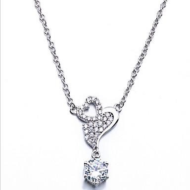 Damen Halsketten Zirkon Kubikzirkonia Basis Liebe Schmuck Für Alltag