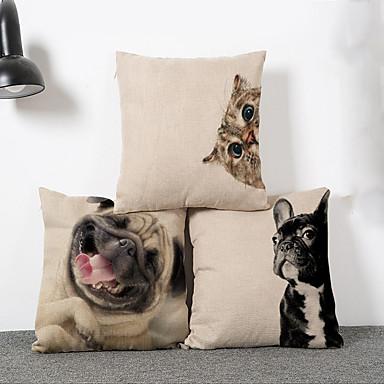 1 PC Algodón / Lino Almohada innovadora / El amortiguador del sofá, Novedad / Animal Moderno / Contemporáneo / Tradicional / Clásico