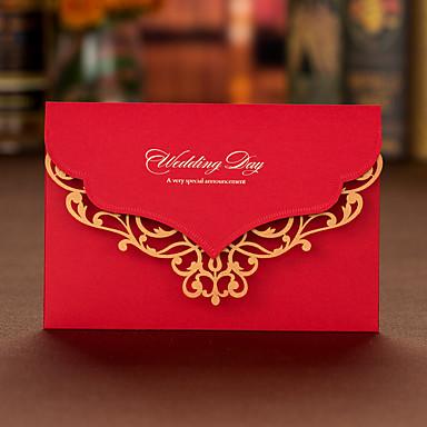 Oberseite gefaltet Hochzeits-Einladungen Einladungskarten Einladungskarten für die Verlobungsfeier Künsterlischer Stil Hartkartonpapier