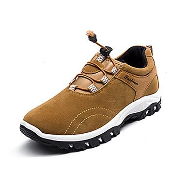 Herrn Schuhe PU Frühling Herbst Komfort Sneakers Wandern Schwarz Grau Gelb Blau