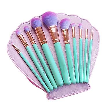 10pçs Pincéis de maquiagem Profissional Conjuntos de pincel / Pincel para Blush / Pincel para Sombra Pêlo Sintético / Escova de Fibra Artificial Amiga-do-Ambiente / Profissional / Cobertura Total