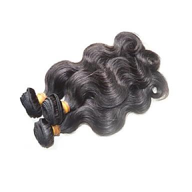 Extensiones de Pelo Natural Cabello Brasileño Ondulado Grande Pelo Natural El cabello humano teje Negro / Más de Un Año