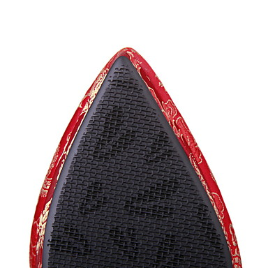 Décontracté Aiguille amp; Femme Chaussures Talon Printemps Talons Fleur 05514637 Soie Eté Soirée pour Chaussures pointu à Mariage Bout Automne wZfqB