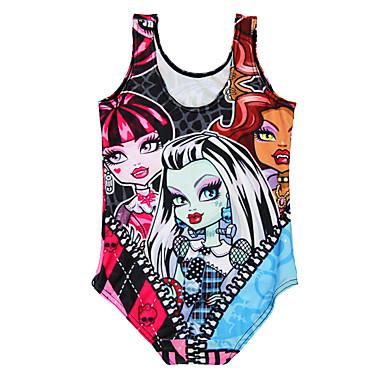 Χαμηλού Κόστους Ρούχα για Κορίτσια-Νήπιο Κοριτσίστικα Κινούμενα σχέδια Στάμπα Spandex Μαγιό Φούξια