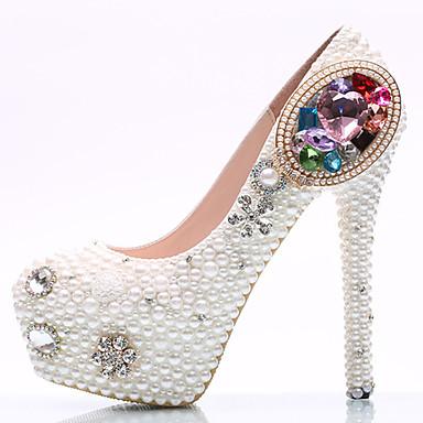 Marche rond Femme à Printemps Polyuréthane Strass Eté Chaussures Bout 05514878 Confort bijoux Talons Plateau à Nouveauté Chaussures Talons fZfrzwFq
