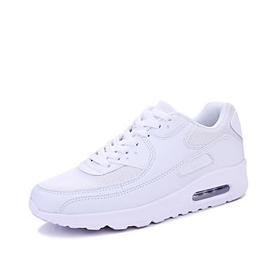 Hombre PU Primavera / Otoño Zapatos de los pares Zapatillas de deporte Paseo Listo para vestir Blanco / Negro
