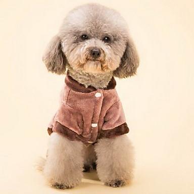 Cani cappottini rosso abbigliamento per cani inverno cartoni