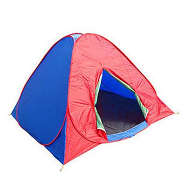 3-4 Personen Zelt Dreifach Camping Zelt Einzimmer Automatisches Zelt Wasserdicht Tragbar Windundurchlässig Staubdicht Klappbar Anti -