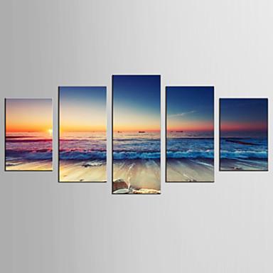 Berühmte Landschaft Modern Realismus, Fünf Panele Segeltuch jede Form Druck Wand Dekoration Haus Dekoration