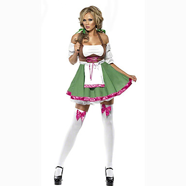 Cosplay Kostüme Party Kostüme Oktoberfest/Bier Kellner/Kellnerin Karriere Kostüme Film Cosplay Kleid Halloween Oktoberfest Frau