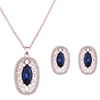 Damen Schmuckset Kristall Hochzeit Party Alltag Normal Aleación 1 Paar Ohrringe Halsketten