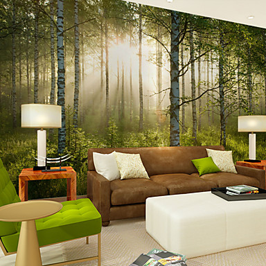 Art Deco 3D Hjem Dekor Moderne Tapetsering, Lerret Materiale selvklebende nødvendig Veggmaleri, Tapet