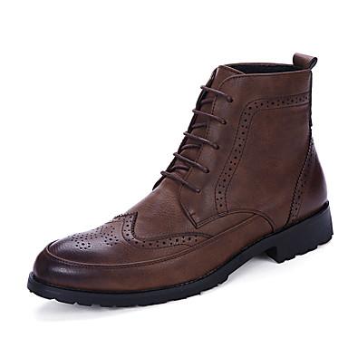Herre sko PU Høst Vinter Komfort Støvler Svart Mørkebrun Blå