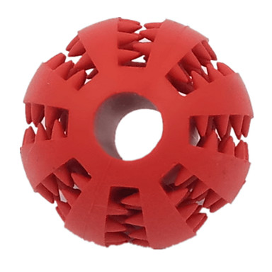 Hundespielzeug Haustierspielsachen Kugel Kau-Spielzeug Zahnhygienespielzeug Langlebig Gummi