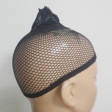 Wig Accessories Bases para Pelucas 2 pcs Diario Clásico Negro