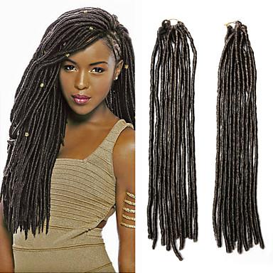 Fletning af hår Hæklet dreadlocks / Dreadlocks / Faux Locs Syntetisk hår 1pc / pakke Hårfletninger Dreadlock Extensions / Falske dreads / Falske hæklede dreads