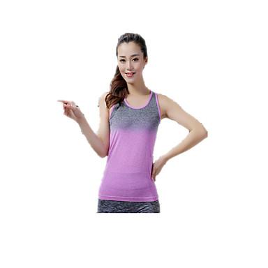 Damen Fitnesshemd Rasche Trocknung Atmungsaktiv Weich Oberteile für Yoga Pilates Übung & Fitness Freizeit Sport Laufen LYCRA® Terylen