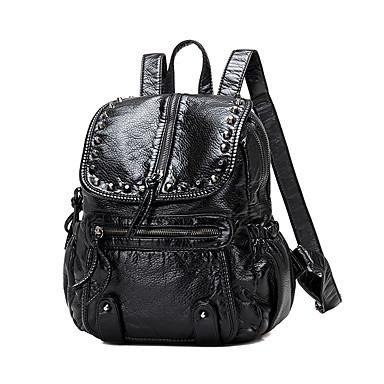Damen Taschen PU Rucksack für Normal Winter Ganzjährig Schwarz