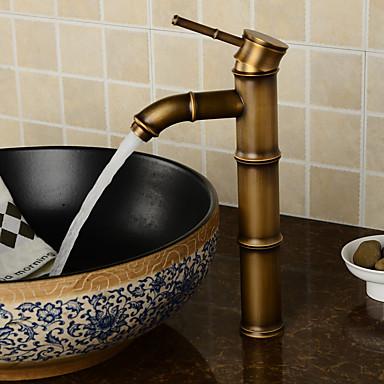 Antike Modern Mittellage Verbreitete Keramisches Ventil Ein Loch Einhand Ein Loch Chrom, Waschbecken Wasserhahn