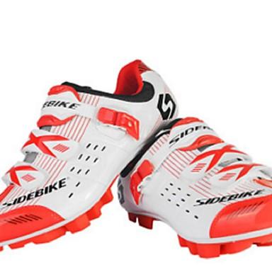 SIDEBIKE J050903 Dame Mountain Bike-sko Nylon og Kulfiber Anti-Skli, Anvendelig, Pustende ånd bare Blanding / PU Sykling / Sykkel Rød og