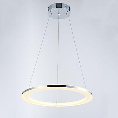 Vedhæng Lys Baggrundsbelysning Krom Metal Akryl Krystal, LED 110-120V / 220-240V Varm Hvid / Kold Hvid LED lyskilde inkluderet / Integreret LED / FCC
