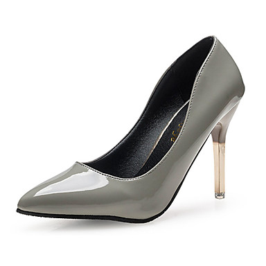 Damen-High Heels-Lässig-PU-Niedriger Absatz-Komfort-Schwarz Rosa Rot Grau