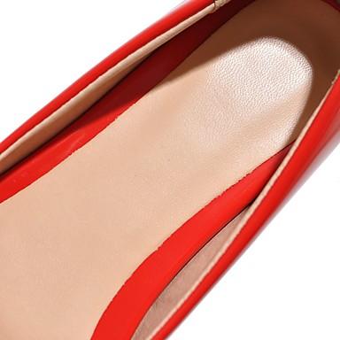Noir Talon Plat Polyuréthane Rouge Femme Printemps Chaussures Noeud Bout pointu Ballerines 05513528 Eté Rose xZSxRqwpU