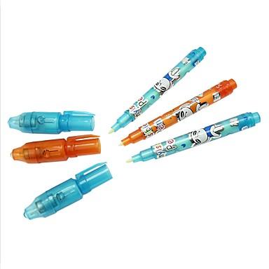3 pcs magia 2 em 1 uv preto luz papelaria caneta marcador caneta de tinta invisível