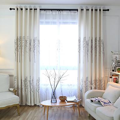Stanglomme Propp Topp Fane Top Dobbelt Plissert Blyant Plissert To paneler Window Treatment Europeisk, Trykk Tegneserie Soverom Lin/