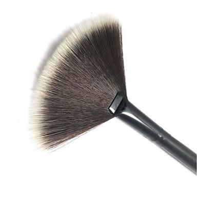 1pcs Makeup børster Profesjonell Rougebørste / Vifte Børste / Pudderbørste Nylon Børste Bærbar / Reisen / Økovennlig Plast Stor Børste