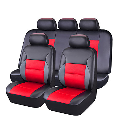 Fundas para asiento Cubre asientos Rojo Cuero de PU Negocios for Universal