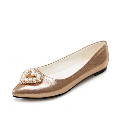Mulheres Sapatos Sintético / Courino / Couro Ecológico Primavera / Verão Conforto / Inovador Rasos Caminhada Sem Salto Dedo Apontado