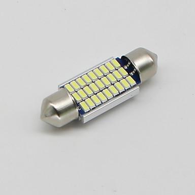 SO.K 4pçs T11 Carro Lâmpadas 3 W SMD 3014 300 lm LED Iluminação interior